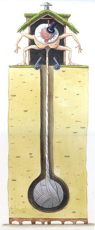 Gaspard's-Ball  Gouache 35 x 15cm
