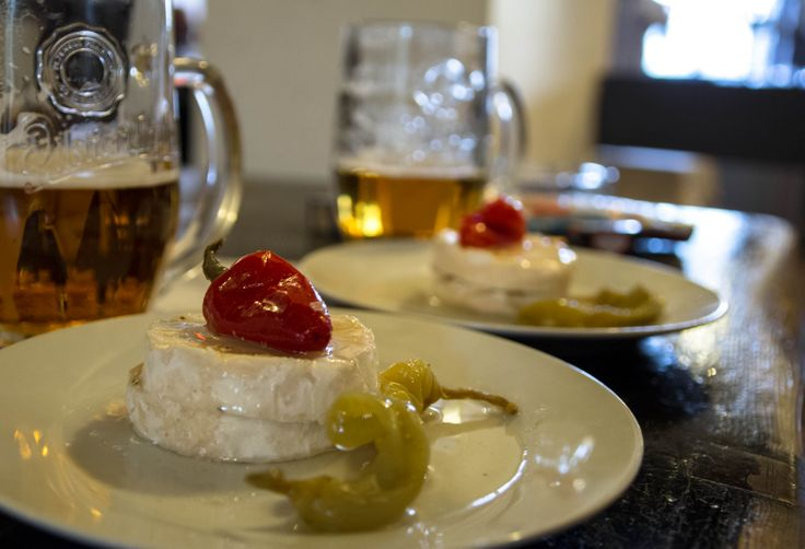 3. Nakládaný hermelín = Pickled Czech Camembert - suitable for vegetarians. Must be made at least 3 days ahead!!! Otherwise it is not that tasty.