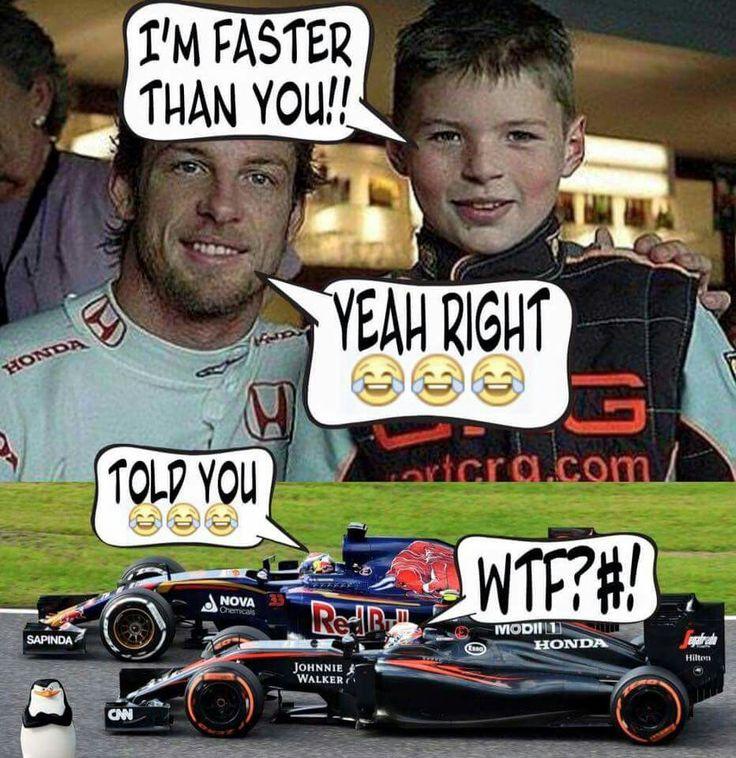 Jenson Button en Max Verstappen 2006-2015