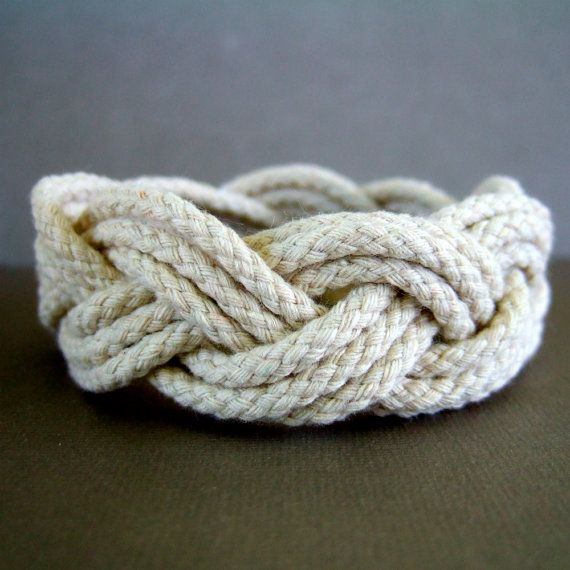 Braided rope bracelet.  I think everyone my age had one of these.