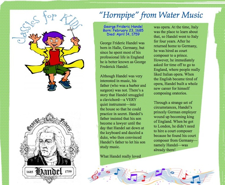 27 best images about My Name is Handel Lesson Plans ...