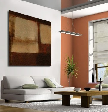 Cuadros abstractos 004 cuadro moderno de gran formato for Cuadros abstractos con marco
