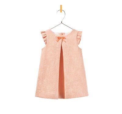 Ruffle sleeve dress, for baby girls age 3 mos to 36 mos.