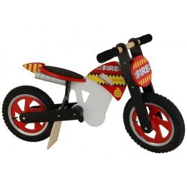 Brandweer Kiddimoto crossmotor loopfiets    Steel de show met deze fantastische loopfiets gebaseerd op de offroad crossmotoren.  Met deze loopfiets ontwikkel je razendsnel een goede balans, coördinatie en motoriek waardoor de overstap naar de echte fiets haast vanzelf gaat.  Deze crossmotor is een stoer, orgineel en leerzaam kado waarmee bij ieder kind een lach op het gezicht getoverd wordt.