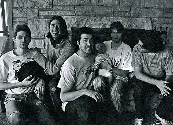 Steve, Dave, Krist, frances, Kurt and Bob... Pachiderm studios In utero Album