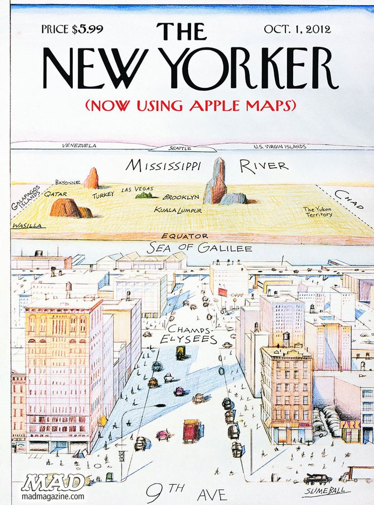 Brooklyn: somewhere between Las Vegas and Kuala Lumpur --> The New Yorker's view from 9th Avenue -- via Apple Maps