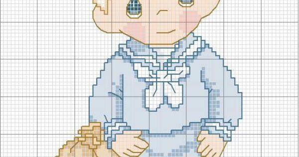 Disegno per punto croce di un bambino marinaio | bebe | Pinterest | Punto Croce, Sailors and Html