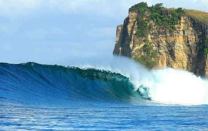 Plekung beach,, the paradise for surfer