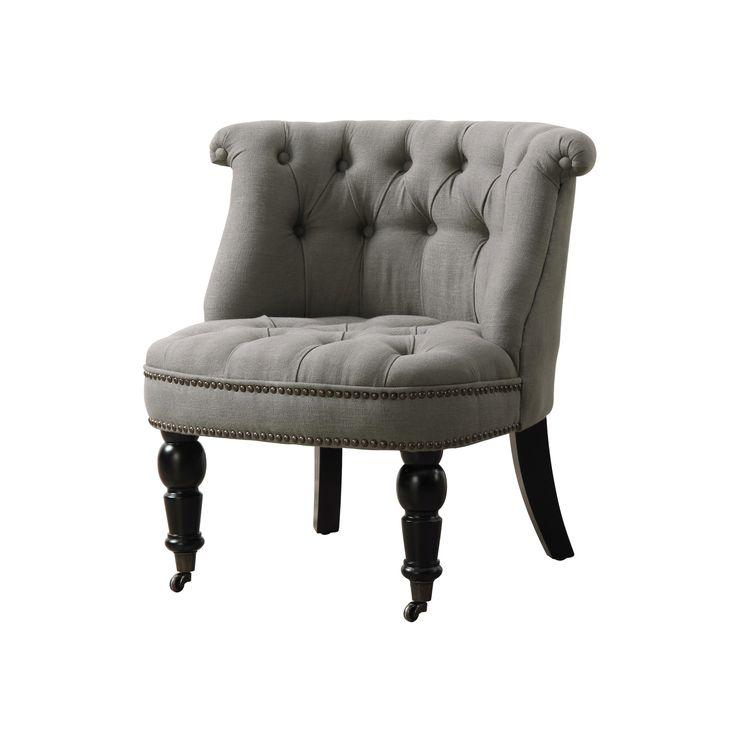 Parisian Gray Linen Chair | dotandbo.com