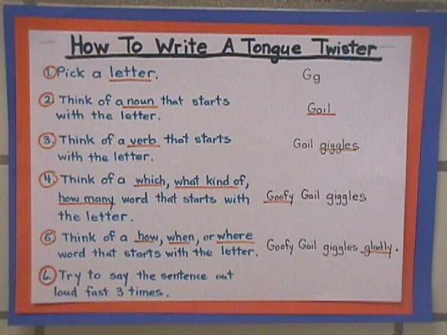 30 best images about Tongue Twister Tuesday on Pinterest   You ...