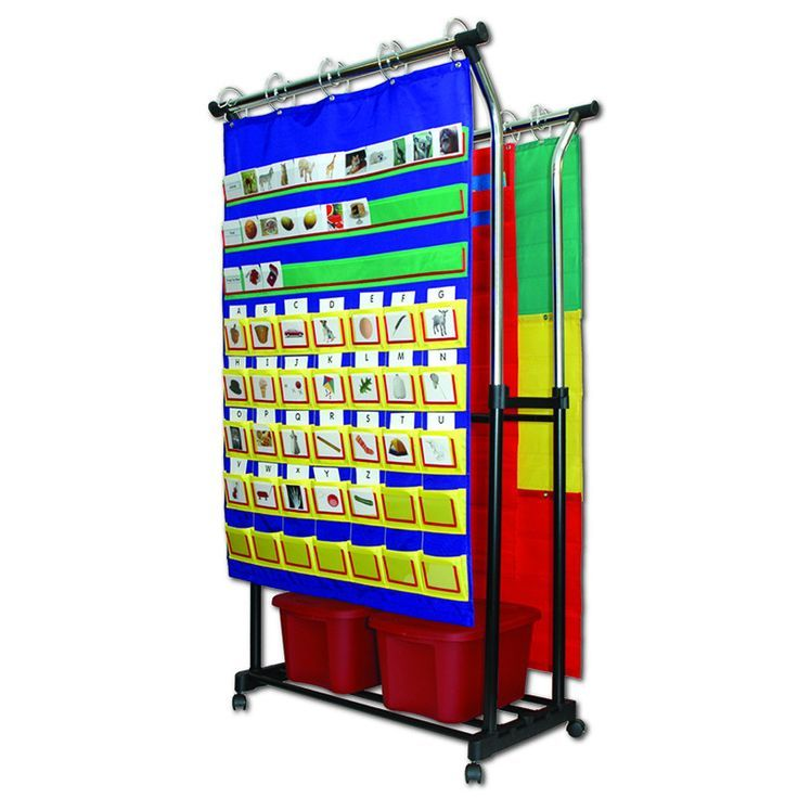 DOUBLE POCKET CHART STAND &
