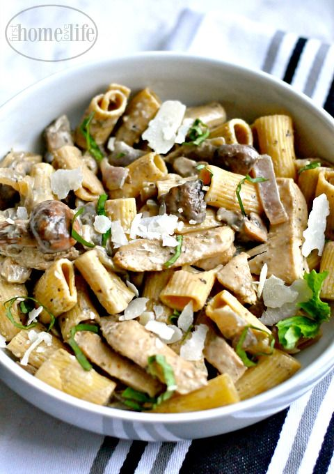 A creamy twist on an italian classic! This creamy chicken marsala mushroom pasta is sure tobe your new family favorite! Sometimes you just want a big bowl of comfort and when it comes to comfort food, my go to is always pasta. It's so versatile and can be transformed into anything you can imagine.