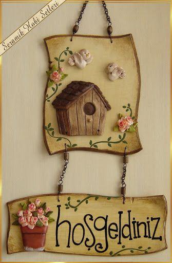 Seramik Hobi Setleri - seramik gül - ahşap boyama - kurdele nakışı için seramik objeler