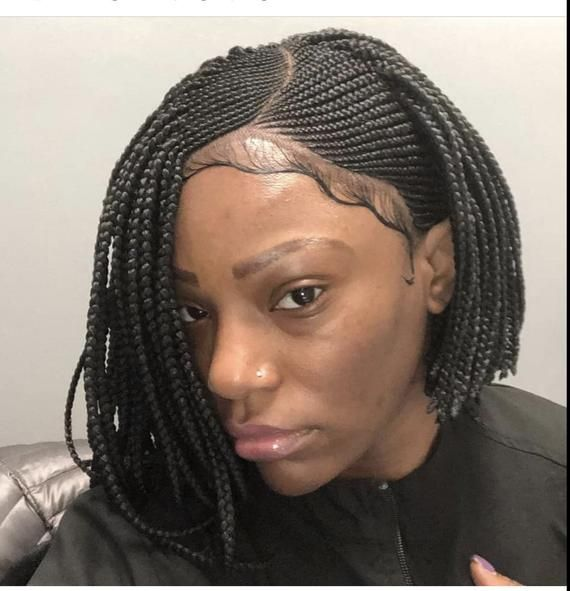 Braided Cornrow Wig Made To Order Natural Looking Wig For