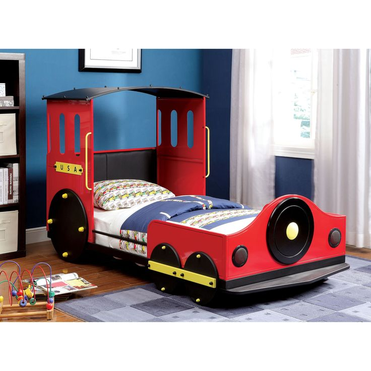 choo choo metal train twin size bed from hayneedlecom - Twin Size Bed Frame For Kids