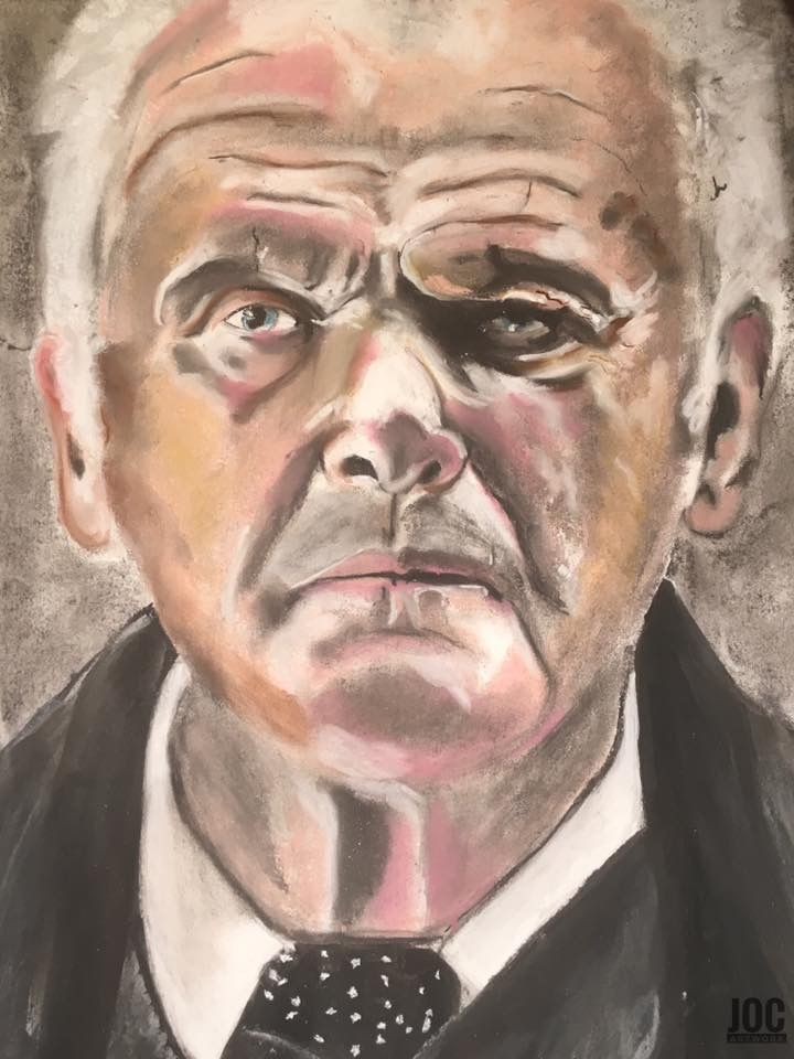 Portrait I did of Sir Anthony Hopkins as Dr Robert Ford in the HBO tv show 'Westworld'