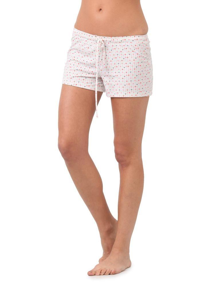 669986005a Short Pijama Estampado Blanco