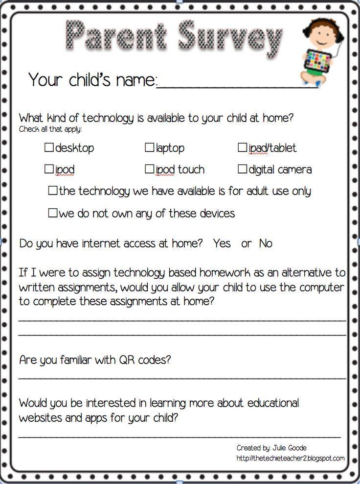 Best  Parent Questionnaire Ideas On   Student Survey