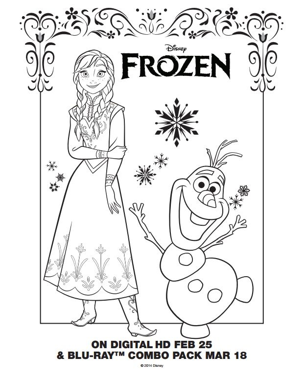 disney frozen party lots of great ideas and free printables including frozen invitations coloring pages games stickers - Disney Frozen Coloring Book Pages