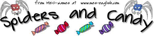 Spiders and Candy Game | an ESL or language building activity for preschool, kindergarten or toddler classes
