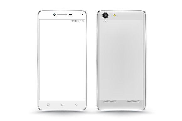 Smartphone vector mockup by sombat.kapan on @creativemarket