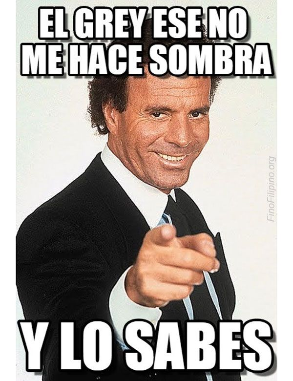 Julio Iglesias y Grey. #humor #risa #graciosas #chistosas #divertidas