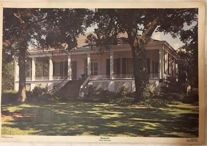 Vintage Beauvoir Photo Placemat Biloxi Mississippi Jefferson Davis Plantation  | eBay