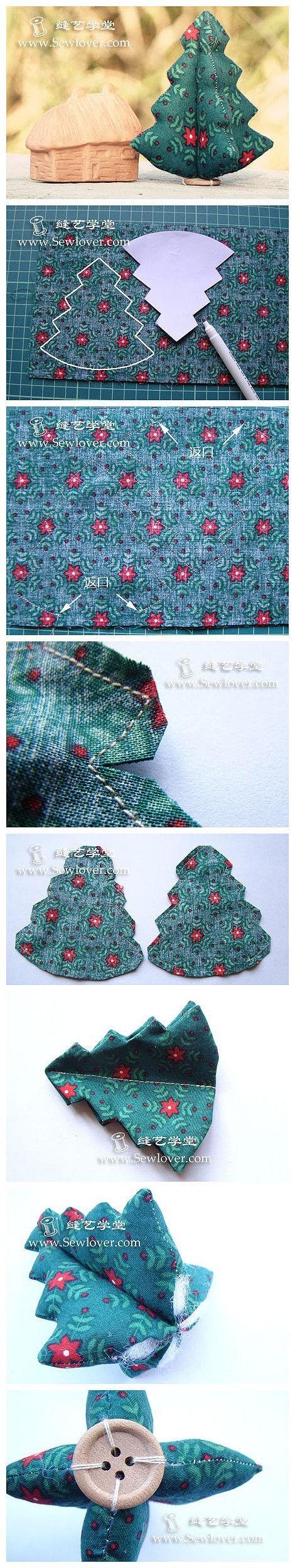 Folded fabric christmas tree - Christmas Tree