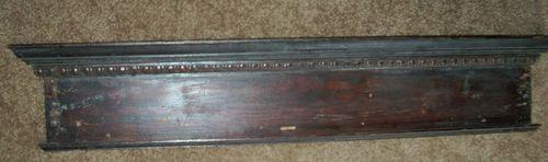 "Antique Wood Mantle Primitive Old Wood Mantel 36 3 4"" x 7"" Original Wood Mantel | eBay"