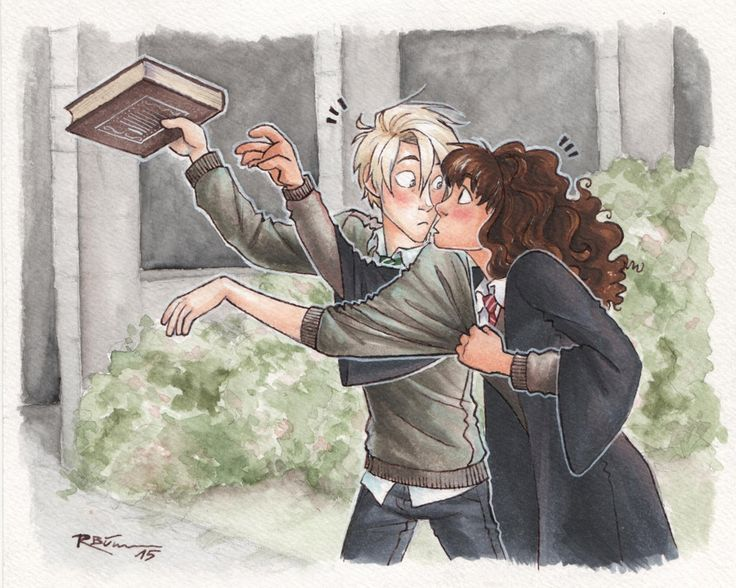 Give that back! [Dramione] by CaptBexx.deviantart.com on @DeviantArt- don't ship it but this is really cute