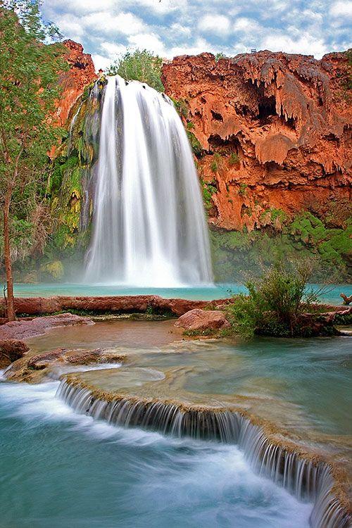 Havasu Falls, Havasupai Canyon, Arizona - hiked this in 1992 and I will never forget it.