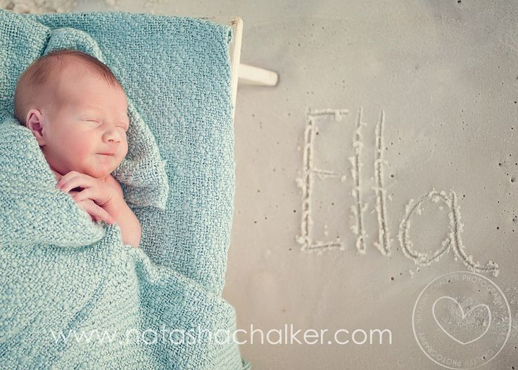Name in the sand, newborn photography idea.  I see this in Titus' future! ;-)