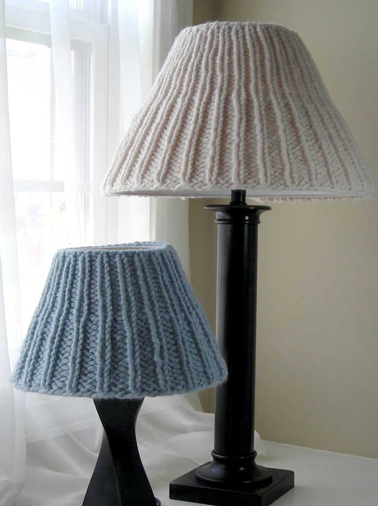 Knitting Pattern Lampshade Cozies - #ad Five different sizes of knit lampshade covers. More pics on Etsy tba household