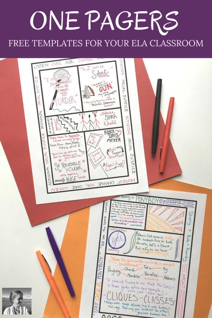 ONE PAGERS: Ready for one pager  success? Want some free templates to help your students maximize their  potential with this fun design activity from AVID? Check out this post for  tips, examples, and four free templates to get you started.