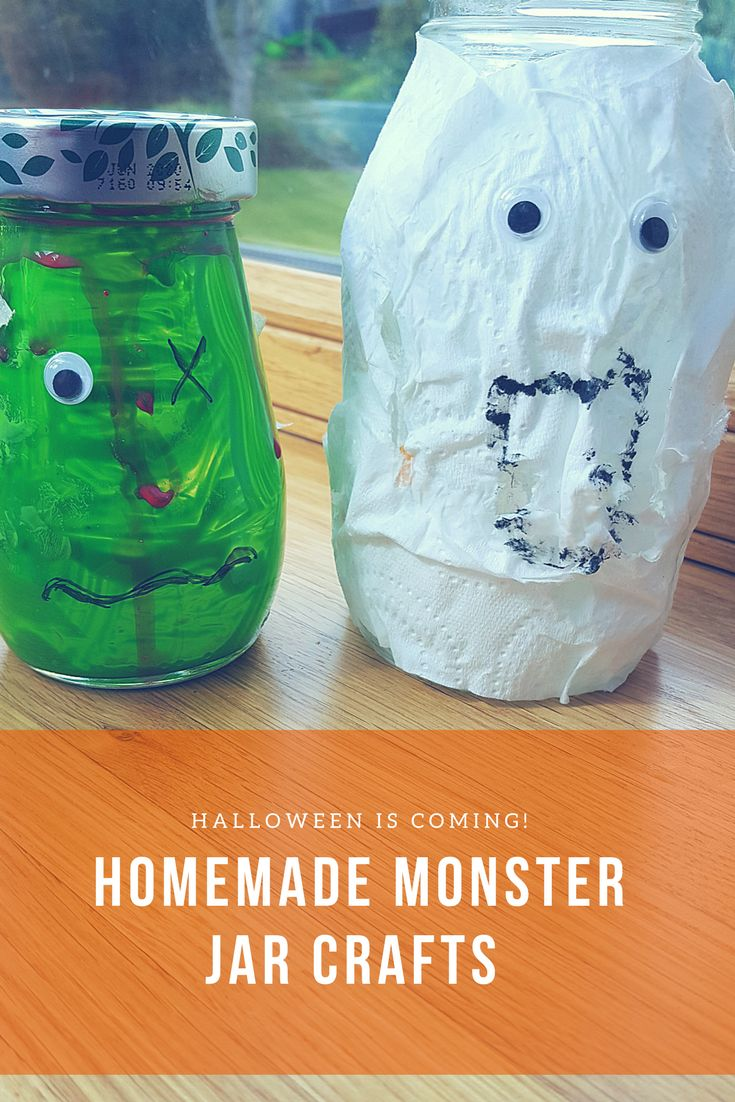 Come and take a look at our homemade monster jars! A fun Halloween activity for children