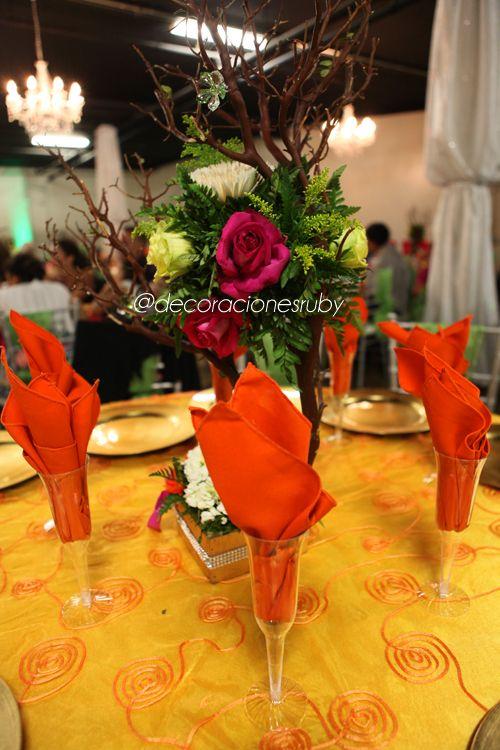 Tema: Tinkerbell Evento: Quinceañera Colores: Rosa,Fuschia ...