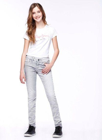 JEANS PEPE JEANS JUNIOR, #Jeans per #bambine e #ragazze di Pepe Jeans #Junior in #gabardine strech di #colore #grigio, slim fit, vita media, 5 tasche con #rivetti, #logo #ricamato. #pepejeans #pepejeansjunior #pepejeanskids #pepejeansbambina #pepejeansbambini #pepejeansbimbi http://www.abbigliamento-bambini.eu/compra/jeans-bambina-pepe-jeans-junior-2564117