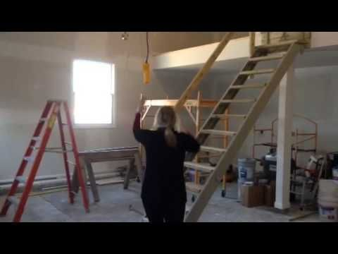 Retractable garage stairs fabrication resources Motorized attic stairs