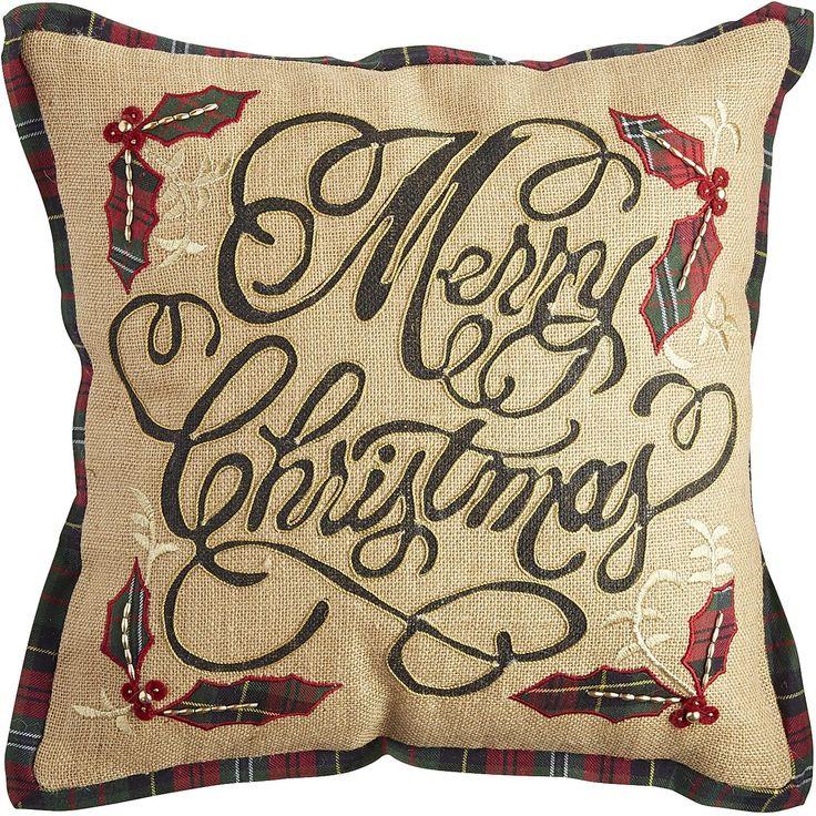 Merry Christmas Pillow - Natural Pier 1 Imports Pillows Pinterest Christmas pillow ...