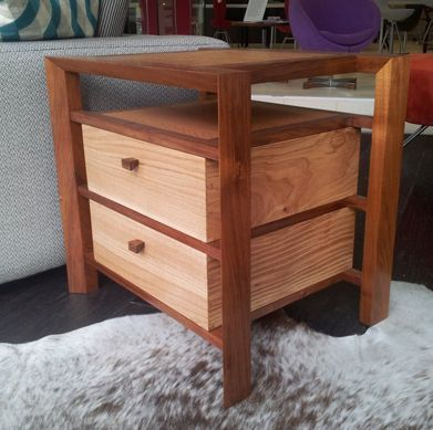 Unique timber bedside table