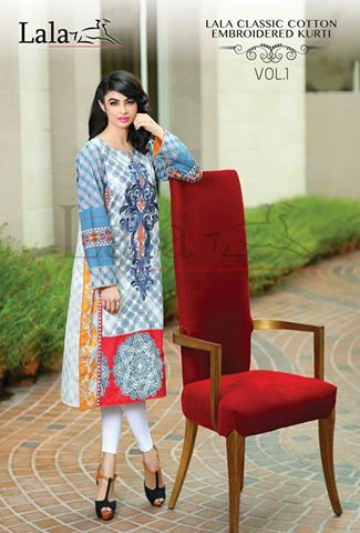 Lala Midsummer Classic Cotton Kurti Collection 2015 http://clothingpk.blogspot.com/2015/08/lala-midsummer-classic-cotton-kurti-collection.html