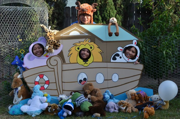 Photo Booth for Noah's Ark themed Baby Shower