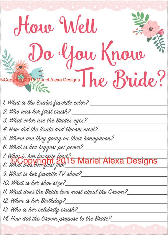 bridal shower game how well do you know the bride fun unique games diy pdf wedding personalized watercolor pink floral garden theme wedding bridal