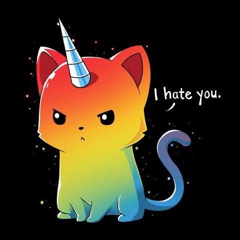 Rainbow kitticorn!  I need this! The Magical Kittencorn   Funny, cute & nerdy shirts   TeeTurtle