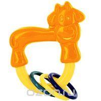 Игрушка-погремушка Коровка с колечками, в ассортименте21346Забавная погремушка Коровка с колечками непременно понравится малышу и не позволит ему скучать. Погремушка представляет собой пластиковое кольцо в виде коровы, на котором расположены подвижные разноцветные кольца. Удобная форма погремушки позволит малышу с легкостью взять и держать ее. Погремушка формирует у ребенка геометрическое видение предметов. Развивает слух, моторику, мышление, концентрацию внимания, цветовое восприятие…