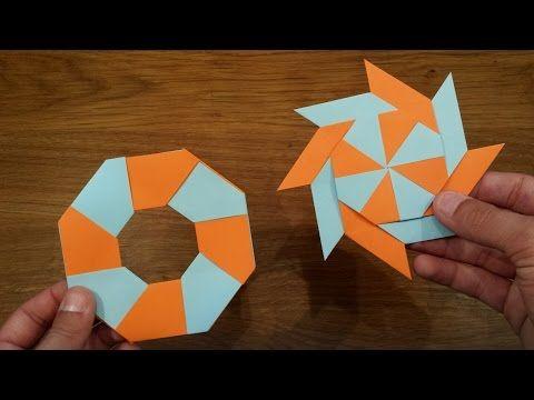 origami - modular - action origami - transforming star - tutorial - dutchpapergirl - YouTube