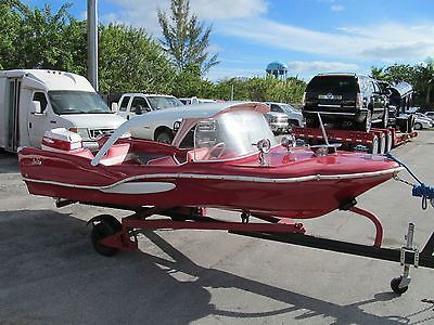 Sea King Boats 1959 Red Fish Antique Classic Boat