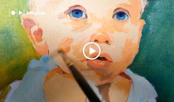 "I invite you to watch short movie from my studio- ""Child portrait painting"""