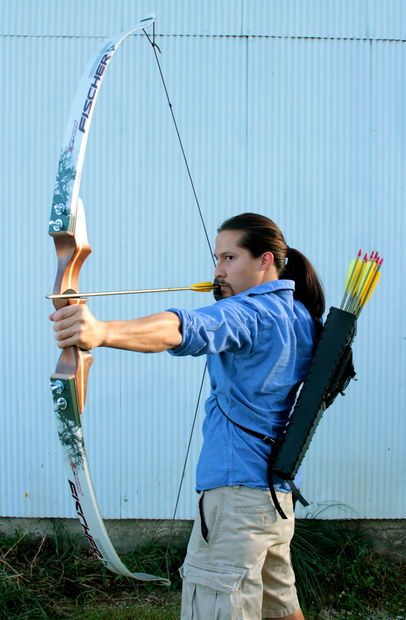 Make a more powerful takedown bow from downhill skis (instead of cross-country skis)