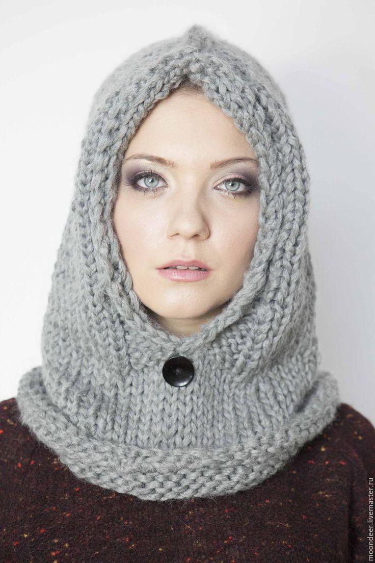 схему вязание спицами шарф капюшон